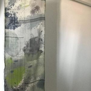 WEB scarf verdes y grises
